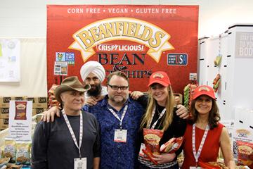 Beanfields Team (L-R) Front Row- Reed Glidden, Roy Glidden, Jamie Grace Davis, Liza Braude-Glidden. Back Row-Amrit Khalsa