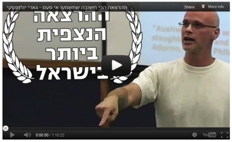 Gary Yourofsky Hebrew video still